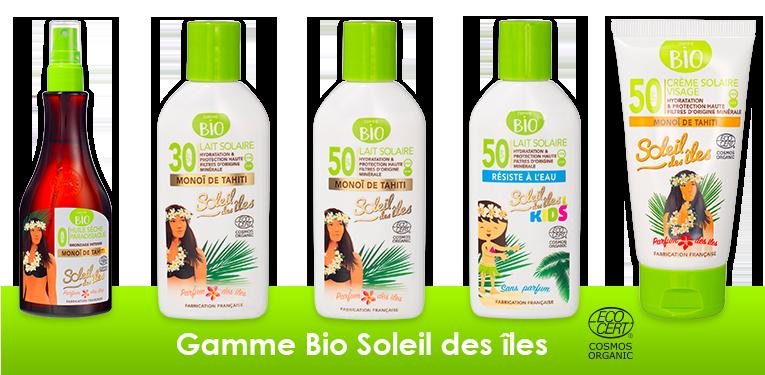 Crème solaire Bio Soleil des îles