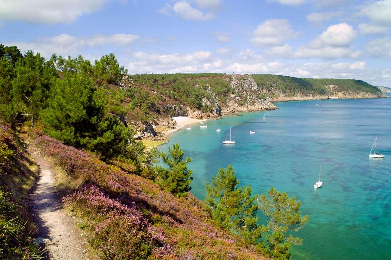 Plage de l'île Vierge, Crozon, Bretagne